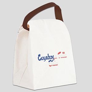 Cuyahoga Falls Ohio Canvas Lunch Bag