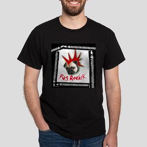 Pug Rocker Black T-Shirt