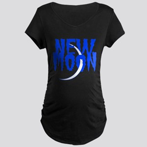 New Moon Blue Maternity Dark T-Shirt