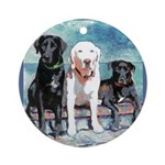 Riccoboni Lab dog Ornament (Round)