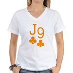 Jack Nine Orange Women's V-Neck T-Shirt