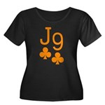 Jack Nine Orange Women's Plus Size Scoop Neck Dark