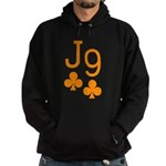 Jack Nine Orange Hoodie (dark)