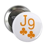 "Jack Nine Orange 2.25"" Button"