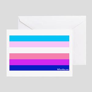 Transgender Bi Flag Greeting Card