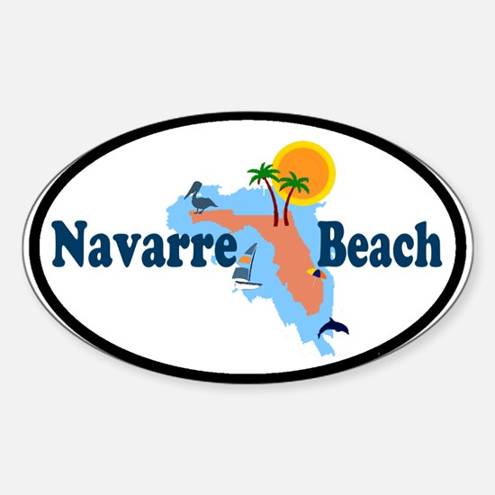 Navarre Beach FL Oval Decal