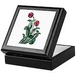 Ruby Red Floral Art Keepsake Box