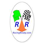 Racing Ready Oval Sticker (10 pk)