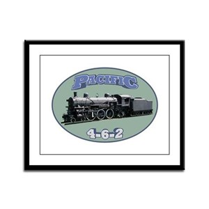 Pacific Locomotive Framed Panel Print