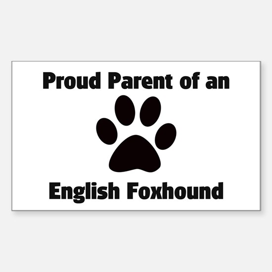 Proud: English Foxhound Rectangle Decal