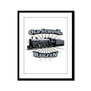 Old School Railfan Framed Panel Print