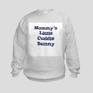 Mommy's Little Cuddle Bunny Kids Sweatshirt