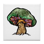 Nature Art Mushroom Tile Coaster