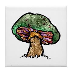Nature Art Mushroom Tile Coaster