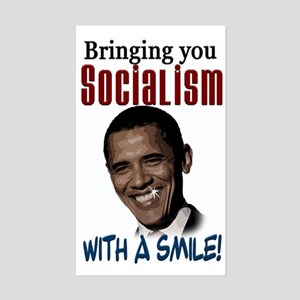 Socialism with a Smile! Rectangle Sticker