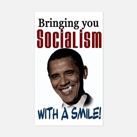 Socialism with a Smile! Rectangle Decal