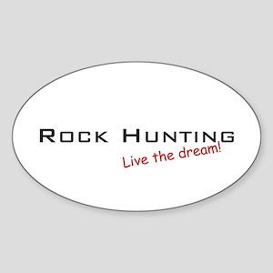 Rock Hunting / Dream! Oval Sticker
