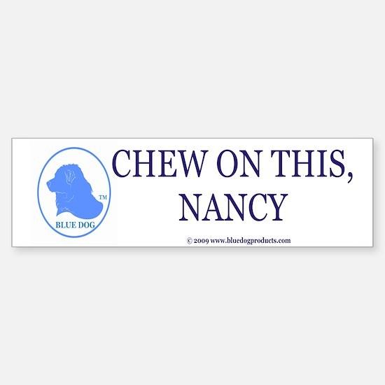 Chew On This Bumper Bumper Bumper Sticker