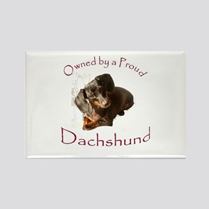Owned by a Proud Dachshund Rectangle Magnet