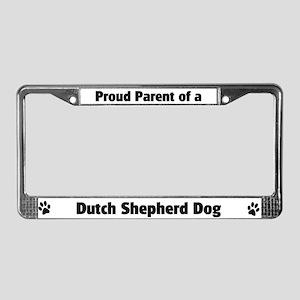 Dutch Shepherd Dog  License Plate Frame