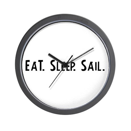 Eat, Sleep, Sail Wall Clock