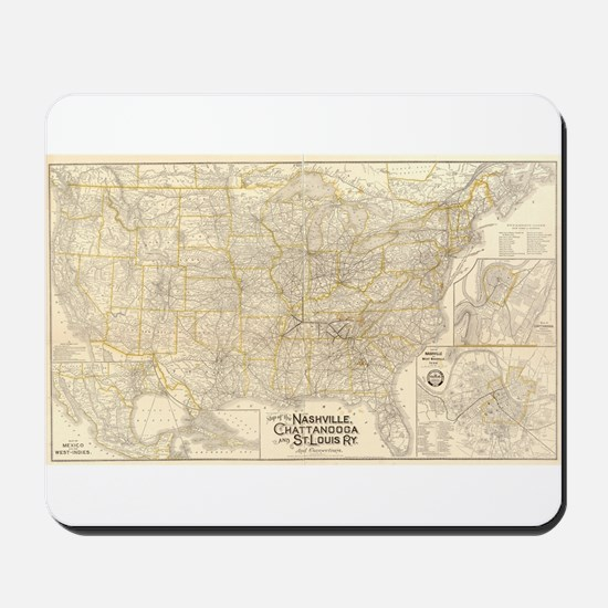 1889 Nash, Chatt & St Louis R Mousepad