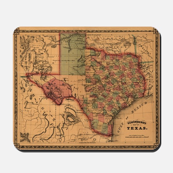 1866 Texas Mousepad