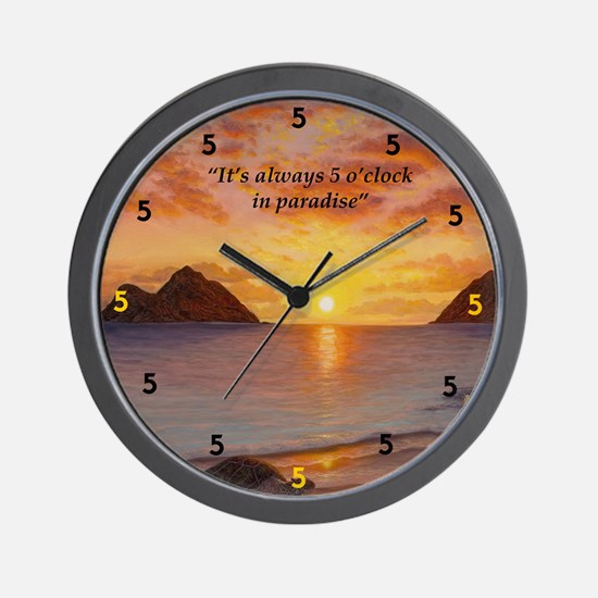 Morning Stretch Wall Clock
