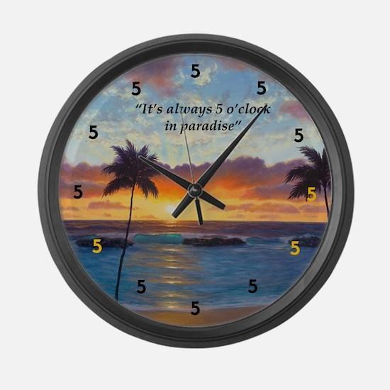 Ko Olina Always Paradise Large Wall Clock