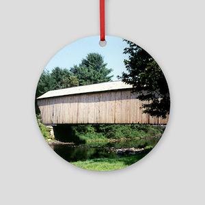Corbin Covered Bridge Ornament (Round)