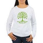 Distressed Tree III Women's Long Sleeve T-Shirt