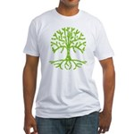 Distressed Tree III Fitted T-Shirt