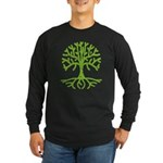 Distressed Tree III Long Sleeve Dark T-Shirt