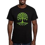 Distressed Tree III Men's Fitted T-Shirt (dark)