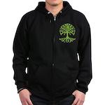 Distressed Tree III Zip Hoodie (dark)