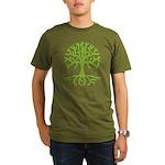 Distressed Tree III Organic Men's T-Shirt (dark)