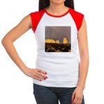 Monument Valley Storm Wall Women's Cap Sleeve T-Sh
