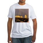 Monument Valley Storm Wall Fitted T-Shirt