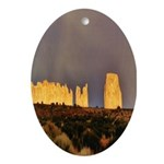 Monument Valley Storm Wall Oval Ornament