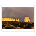 Monument Valley Storm Wall Small Poster