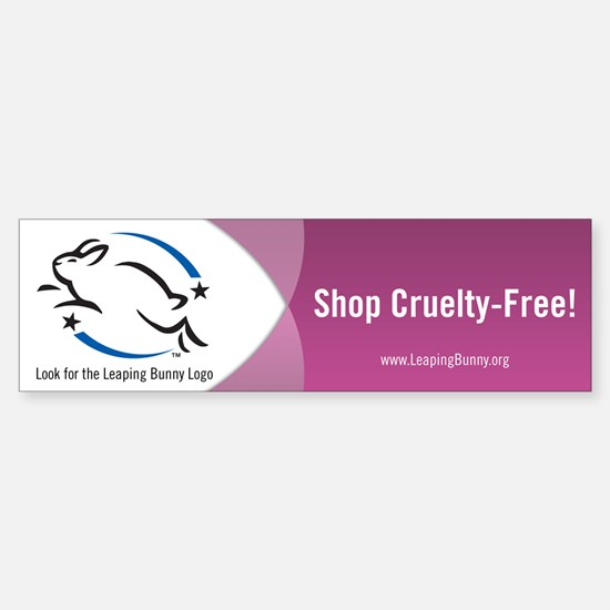 Leaping Bunny Bumper Sticker (Pink)