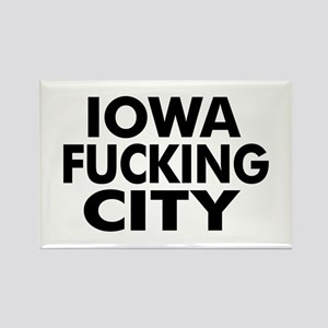 Iowa Fucking City Rectangle Magnet