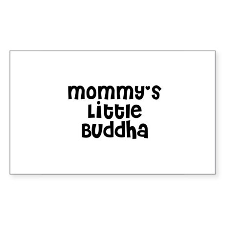 Mommy's Little Buddha Rectangle Sticker
