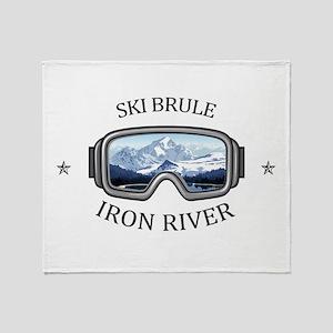 Ski Brule - Iron River - Michigan Throw Blanket