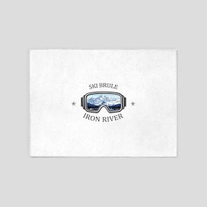 Ski Brule - Iron River - Michigan 5'x7'Area Rug