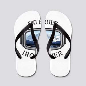 Ski Brule - Iron River - Michigan Flip Flops