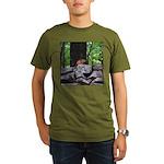 Cute Chipmunk Organic Men's T-Shirt (dark)
