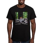 Cute Chipmunk Men's Fitted T-Shirt (dark)