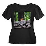 Cute Chipmunk Women's Plus Size Scoop Neck Dark T-