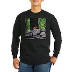 Cute Chipmunk Long Sleeve Dark T-Shirt